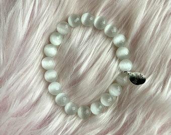 Selenite Crystal Intention Bracelet