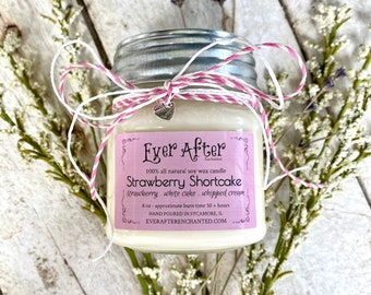 Strawberry Shortcake - 100% All Natural Soy Wax Candle