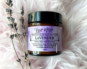Lavender Whipped Essential Oil Body Butter - Night Time Beauty Ritual