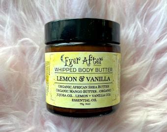Lemon & Vanilla Whipped Essential Oil Body Butter