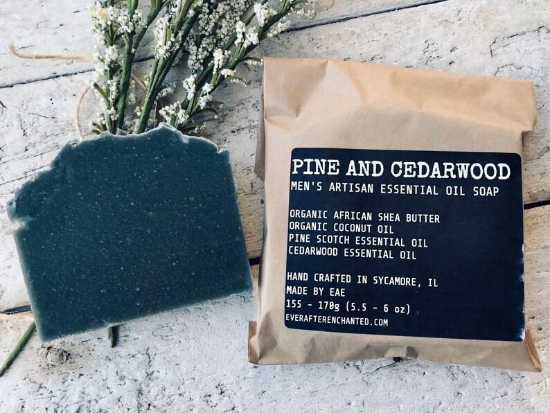 Pine and Cedarwood  Men's Artisan Essential Oil Soap image 0