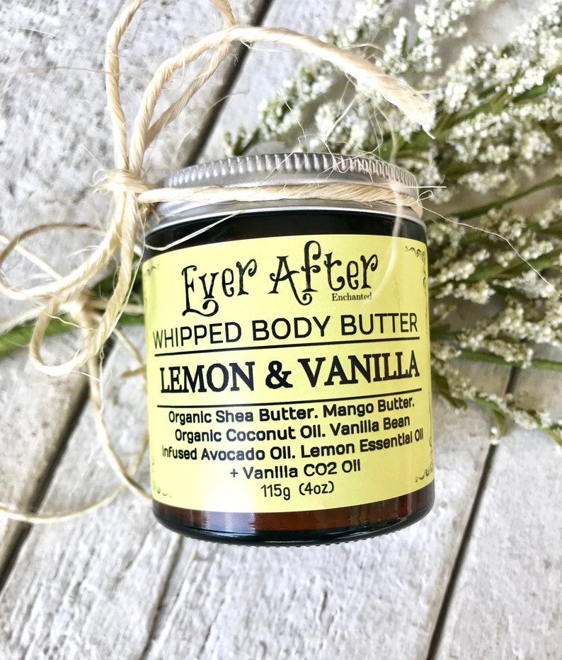 Lemon & Vanilla Whipped Body Butter image 0