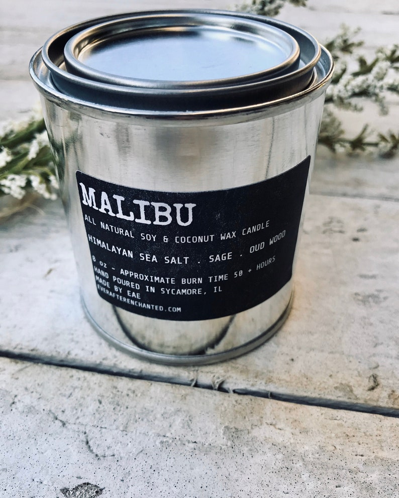 Malibu  Men's All Natural Soy and Coconut Wax Candle image 0