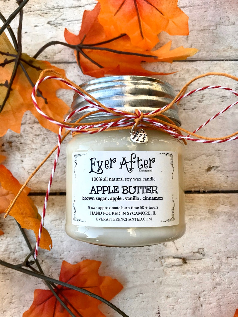 Apple Butter  100% All Natural Soy Wax Candle image 0