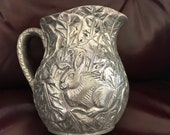 PITCHER VASE BUNNY Metal Silver