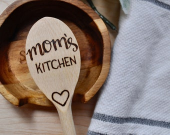 Wood Burned Spoon in Mom's Kitchen
