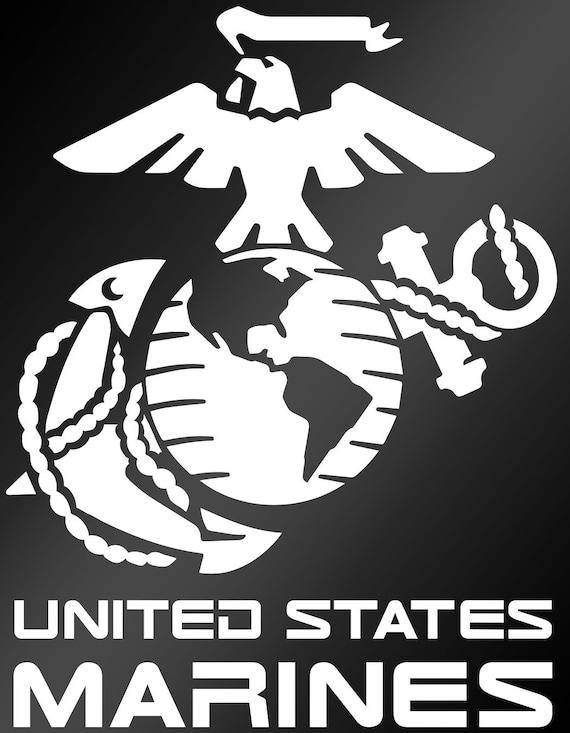 United States Marines Decal Ega Decal Us Marine Corps Etsy