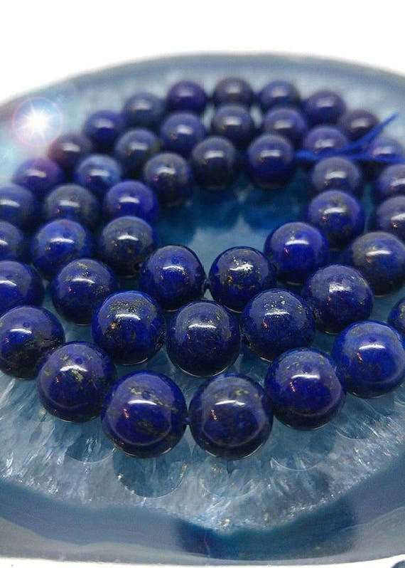 "Natural Lapis Lazuli With Pyrite Nugget Beads 15/"" Strand Oz Seller"