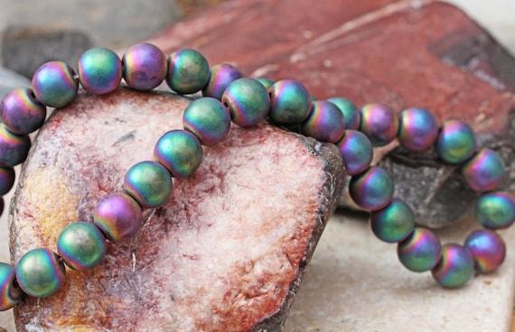 Mystique Rainbow Hematite Beaded Necklace