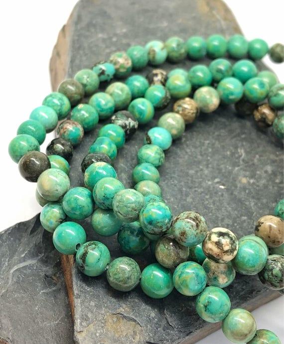 Strand Precious African Turquoise Gemstone Beads Jewellery 6mm