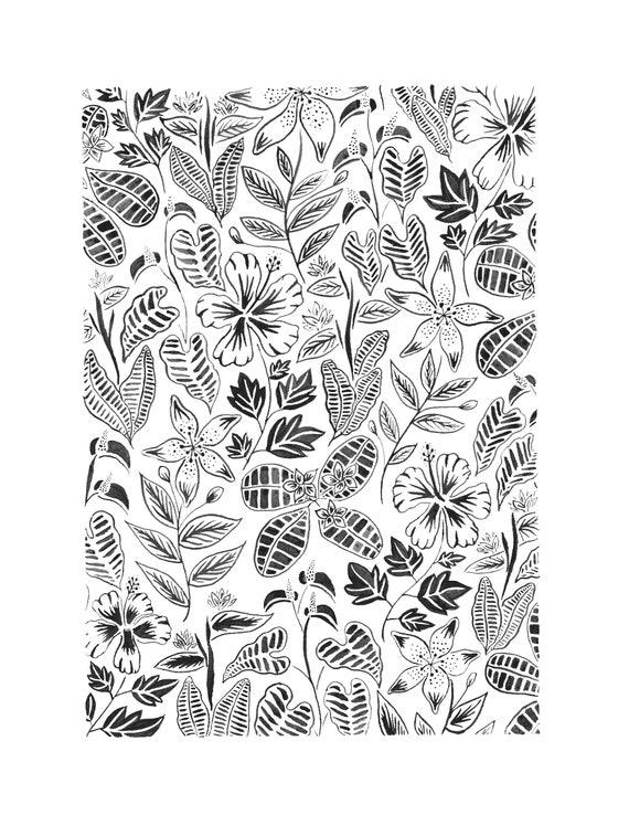 Tropical Florals Print