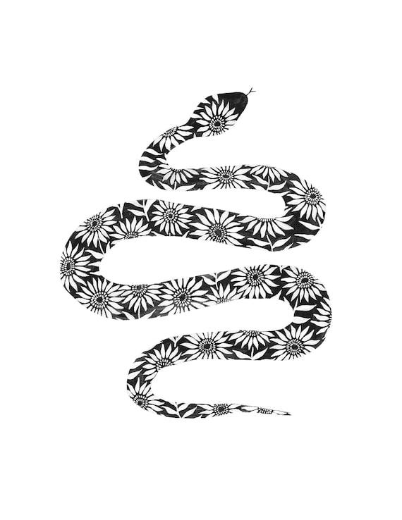Sunflower Snake Print
