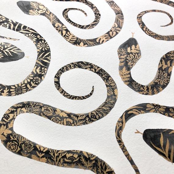 Large Bronze Floral Snakes