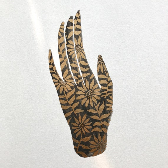 Bronze Sunflower Hand