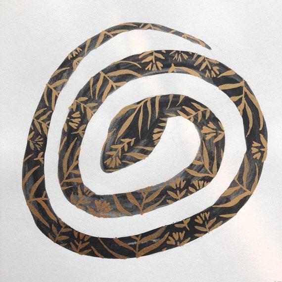 Curled Snake Bronze Floral