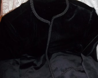 Open Black Velvet Jacket