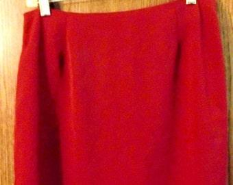 Vintage Peplum Skirt in Burgundy Above Knee
