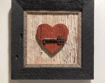 Rustic Heart Wall Hanging Framed Heart