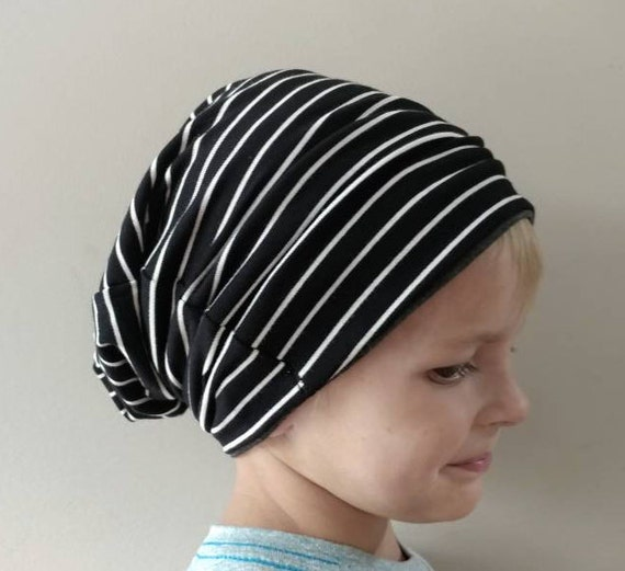 Stormy Grey Baby and Toddler Hipster Boy Lightweight Slouch Beanie Hat