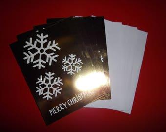 Noel: lot de 5 cartes de voeux thème noel/hiver 13,5 x 9,5 cm