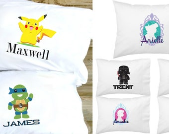 Personalized Character Pillowcases | 24 Designs