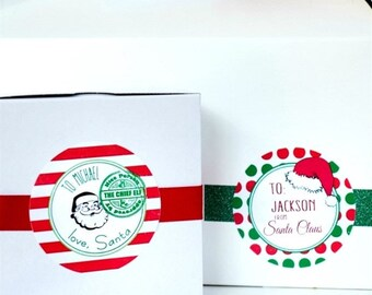 Personalized From Santa Labels