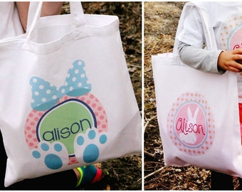 Personalized Easter Tote - Easter Bag - Easter Hunt- 12 Styles