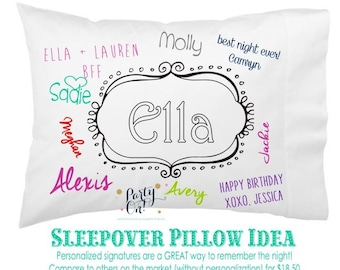 Sleepover Gift - Best Friend Color On Pillowcases