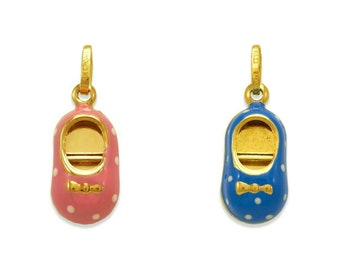 New 14k Yellow Gold 3-D High Heel Shoe Pendant