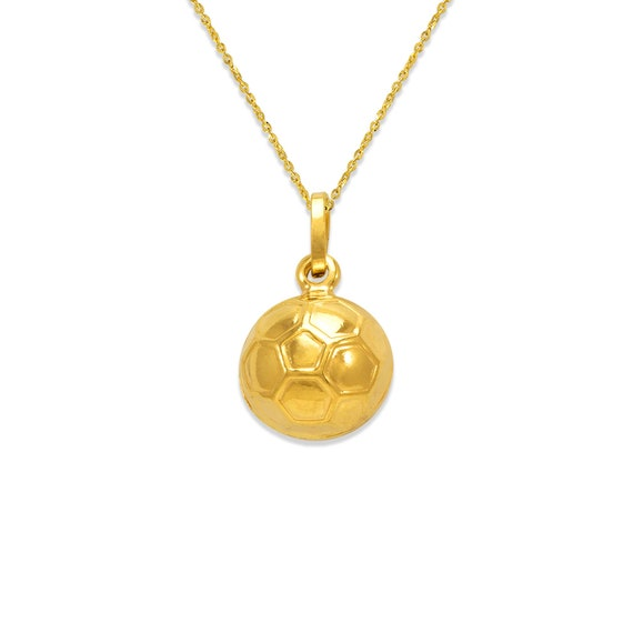 Small Dolphin Charm Solid Yellow 14k Yellow Pure Italian Gold Round 11mm Pendant
