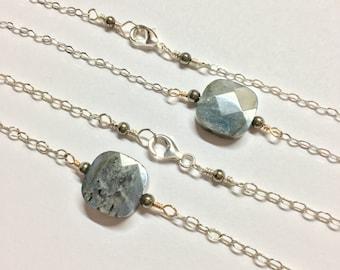 Labradorite & Pyrite Necklace