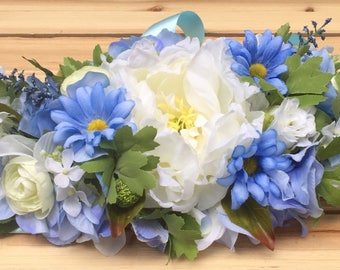 light blue and yellow wedding