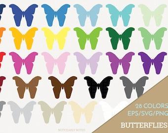 Butterfly Vector, Butterflies Clipart, Butterfly Art, Insect SVG, Bug PNG  (Design 13759)