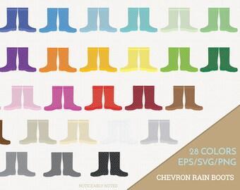 Chevron Rain Boots Vector, Galoshes Clipart, Rainboots Clip Art, Rain Boot SVG, Chevron Galosh PNG  (Design 13760)