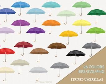 Stripe Umbrella Vector, Striped Umbrellas Clipart, Rain Clip art, Spring SVG, Umbrella PNG  (Design 13761)
