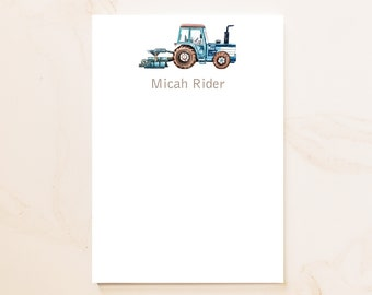 Tractor Personalized Notepad - Social Stationery - Personal Notepad - Personalized Gifts - Gardener Gift - Farm Notepad - Gift for Men - TR1