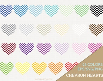 Hearts Vector, Heart Clipart,  Heart SVG, Valentine's Day Printable, Love Print and Cut, Chevron Hearts, Patterned Heart SVG (Design 11608)
