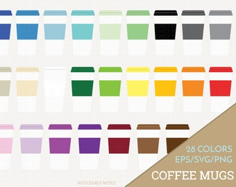 Coffee Mug Vector, Coffee Cup Clipart,  Kitchen SVG, Travel Mug Printable, Print and Cut (Design 11617)