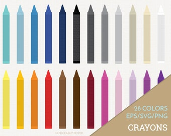 Crayons Vector, Crayon Clipart, Back to School Clip Art, Office Supply SVG, Office Supplies Printable, School Print and Cut (Design 11611)