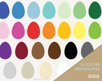 Easter Eggs Vector, Eggs Clipart,  Egg SVG, Spring Printable, Easter Print and Cut (Design 11607)