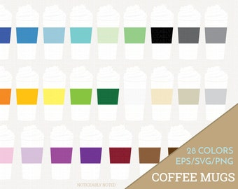 Coffee Mug Vector, Coffee Cup Clipart,  Kitchen SVG, Travel Mug Printable, Coffee with Whipped Cream Print and Cut (Design 11612)