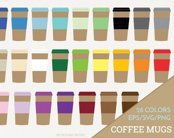 Coffee Mug Vector, Coffee Cup Clipart,  Kitchen SVG, Travel Mug Printable, Print and Cut (Design 11606)