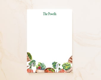 Garden Personalized Notepad - Social Stationery - Personal Notepad - Personalized Gifts - Vegetable Gardener Gift - Farm Notepad - VG1