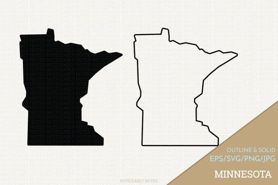 Minnesota Vector State Clipart MN Clip Art Minnesota SVG | Etsy
