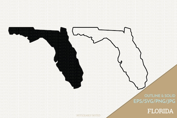 Florida Vector, State Clipart, FL Clip Art, Florida SVG, State PNG (Design  13748)