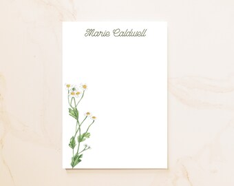 Daisy Personalized Notepad - Social Stationery - Personal Notepad - Personalized Gifts - Hostess Gift - Simple Floral Notepad - Farm - DS1