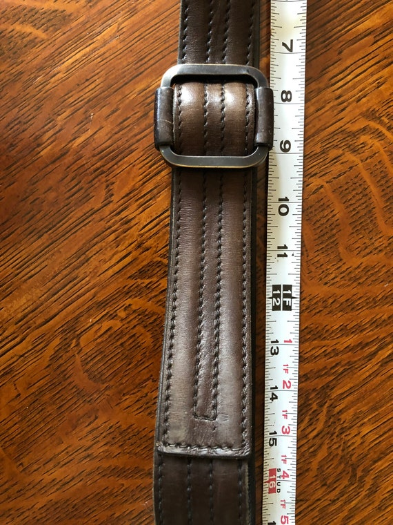 Vintage leather belt unique belt France
