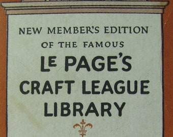 1925 LePage's Glue Craft Library, Mini Book Set, Advertising