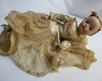 Terribly Abused Baby Doll with Sleepy Eyes