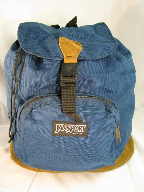 "Large 16"" Jansport Backpack with Woven Blue Materi"